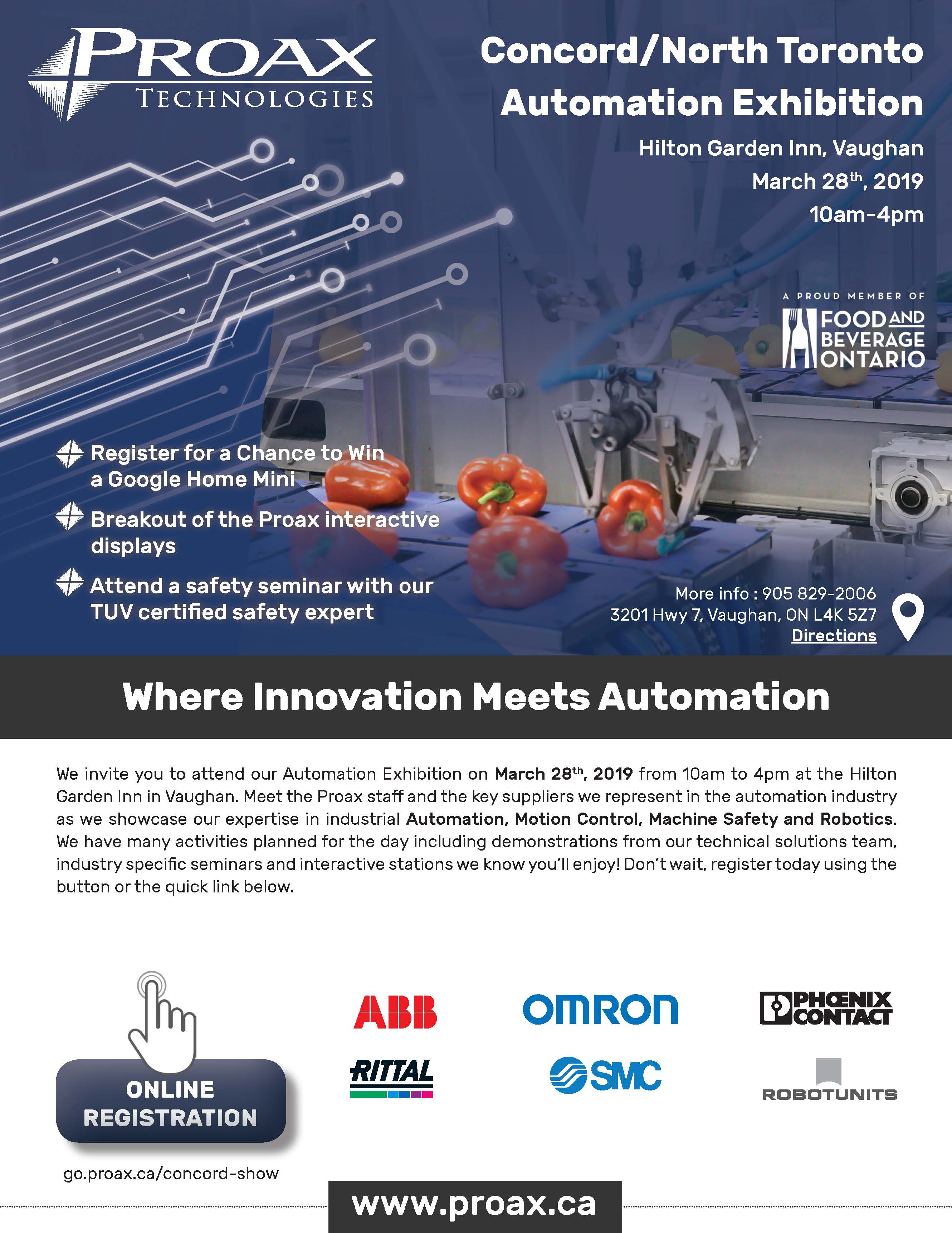 Proax Technologies Concord Automation Show March 28 2019 Invite Final
