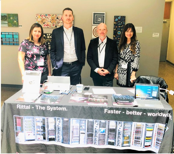 Pic shows the Rittal team at the GCDCS 2019 trade show: Timea Ivan, Olivier Bousette, Todd Knapp and Sandra Abuwalla